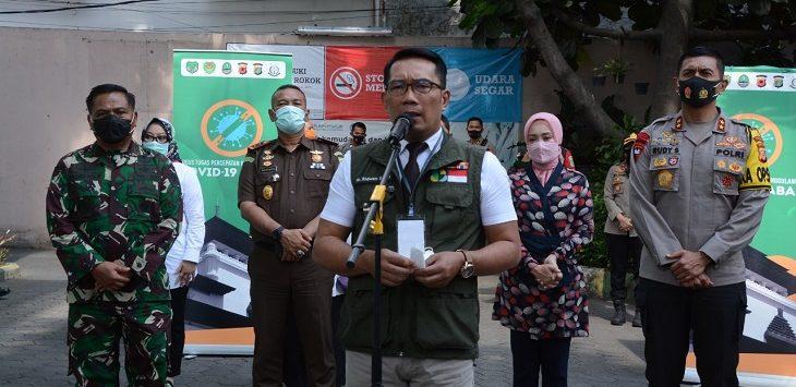 Gubernur Jabar, Ridwan Kamil saat konpres, Rabu (30/9/2020)./Foto: Arief
