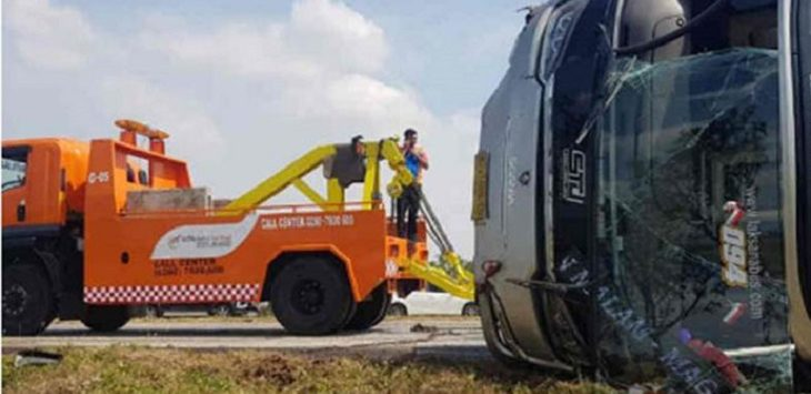 Kecelakaan di Tol Cipali, Aad (20/9/2020)./Foto: Istimewa