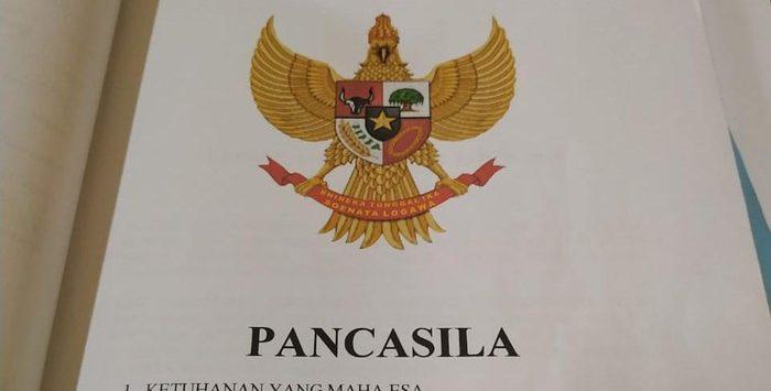 Lambang Garuda Pancasila yang diubah di Garut (ist)