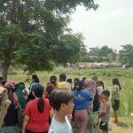 Suasana di lokasi bocah hilang di Karawang
