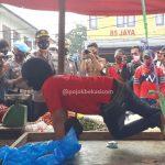 Tak Pakai Masker, PKL di Pasar Cikarang Kena Hukum Kapolres