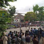 Aksi penolakan UU Cipta kerja di Bandung