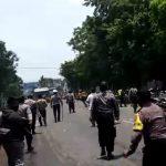 Demo tolak UU Cipta Kerja di Cirebon