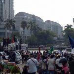 Demo tolak UU Cipta Kerja di Jakarta