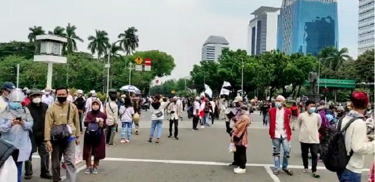 Demo tolak UU Cipta Kerja di Jakarta./Foto: Istimewa