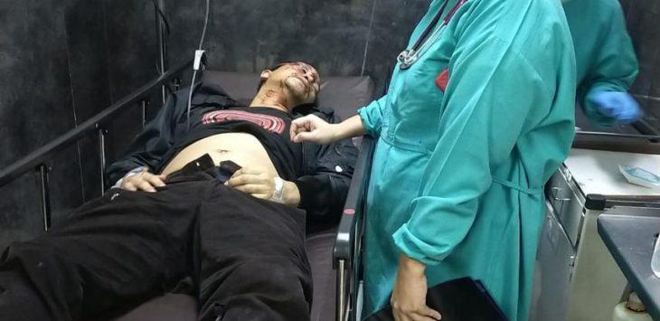 Kondisi Hanafi Rais sesaat sesudah kecelakaan di Tol Cipali Subang (ist)