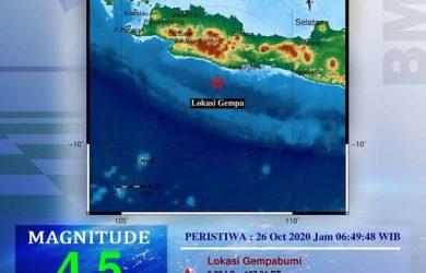 Pangandaran diguncang gempa Senin pagi (ist)
