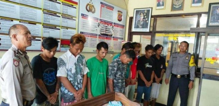 Polres Indramayu ungkap kasus pengeroyokan./Foto: Istimewa