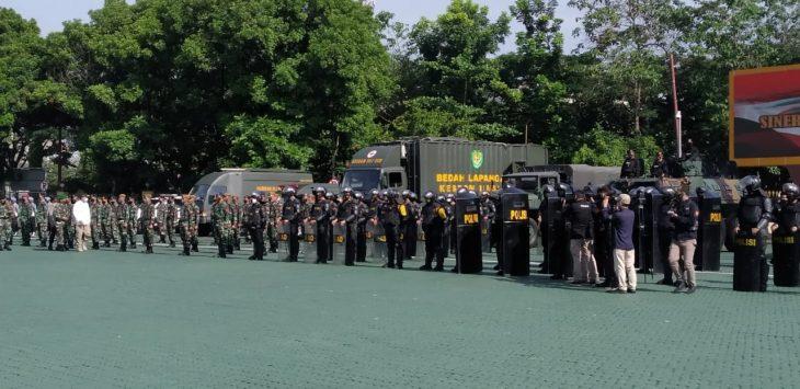Apel kesiapan Pilkada serentak di Jawa Barat, Selasa (24/11/2020). Arif/Pojokbandung