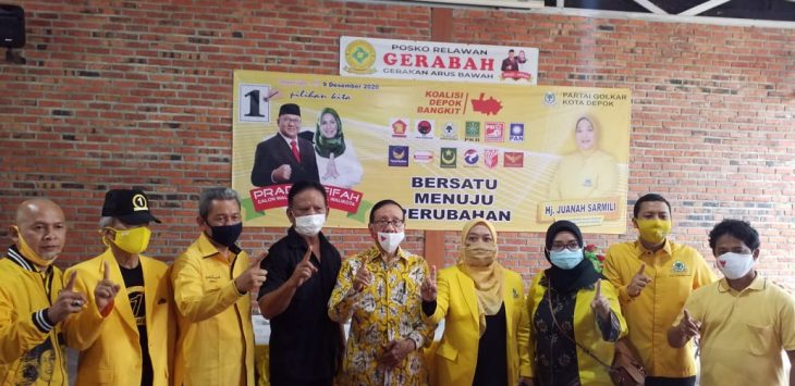 ist BAKAR SEMANGAT : Politikus senior Partai Golkar, Akbar Tanjung, turun gunung guna memenangkan Pasangan Calon Walikota dan Wakil Walikota Depok Nomor Urut 1, Pradi Supriatna - Afifah Alia, Sabtu (28/11).
