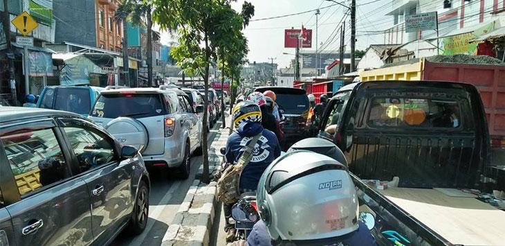 SSA di Jalan Dewi Sartika, Kota Depok.