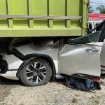 Mobil yang ditumpangi Wakil Ketua DPD Mahyudin mengalami kecelakaa