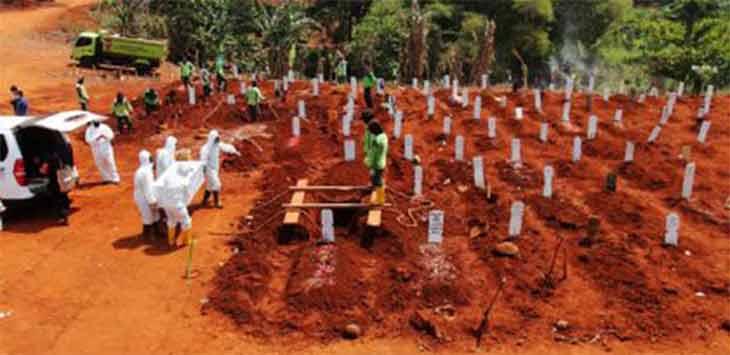 Pemakaman Khusus jenazah covid-19. Ist