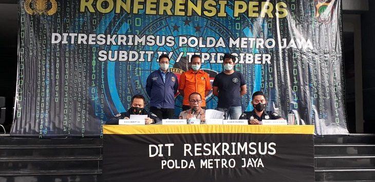 Polda Metro Jaya ringkus pelakiu pengubah adzan, Kamis (3/12/2020)./Foto: Fordausi