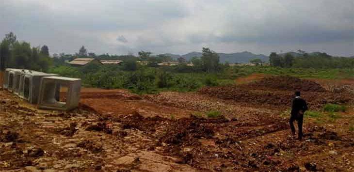 Kondisi pembangunan TPA Cikundul di Kampung Saluyu RT5/7, Kelurahan Situmekar, Kecamatan Lembursitu.