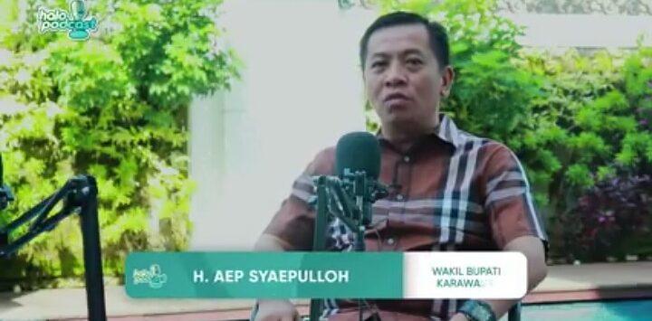 Calon Wakil Bupati karawang, Aep Syaepulloh. (Youtube)