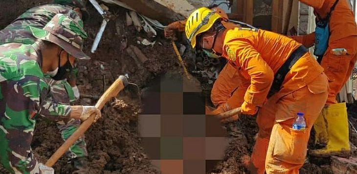 Penemian korban longsor di Sumedang, Rabu (13/1/2021)./Foto: Istimewa