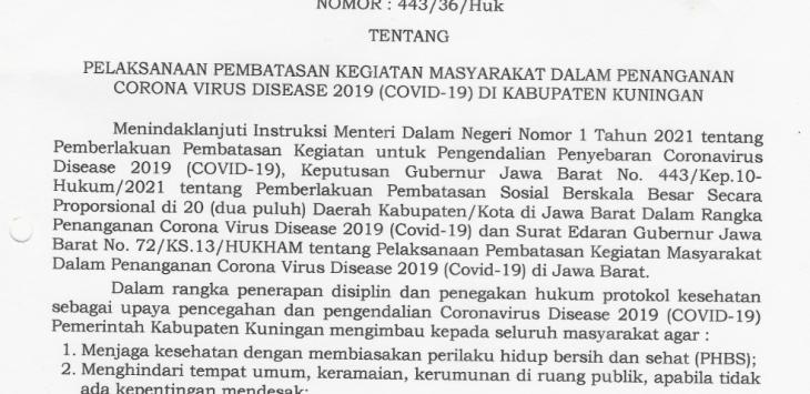 Surat edaran Bupati Cirebon. Istimewa