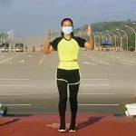 Instruktur aerobik Khing Hnin Wai