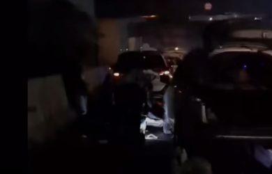 Lokasi viral ban pecah di sekitar Tol Japek
