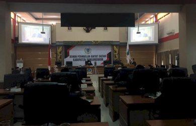 Rapat Paripurna LKPJ Bupati Pangandaran atas anggaran tahun 2020