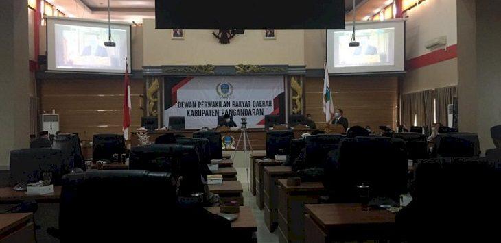 Rapat Paripurna LKPJ Bupati Pangandaran atas anggaran tahun 2020./Foto: Rmol