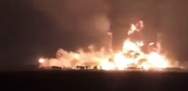Pertamina Balongan, Indramayu, Terbakar./Foto: Istimewa