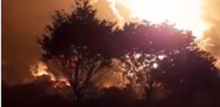 Ilustrasi balongan terbakar. IST