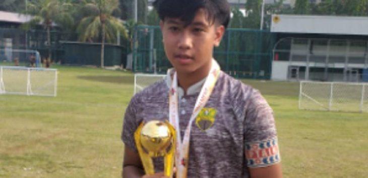 Rayhan Hafiz merupakan satu dari tiga pemain asal Karawang yang lolos 48 besar Seleksi Timnas U-19 tingkat Jawa Barat./Foto: istimewa
