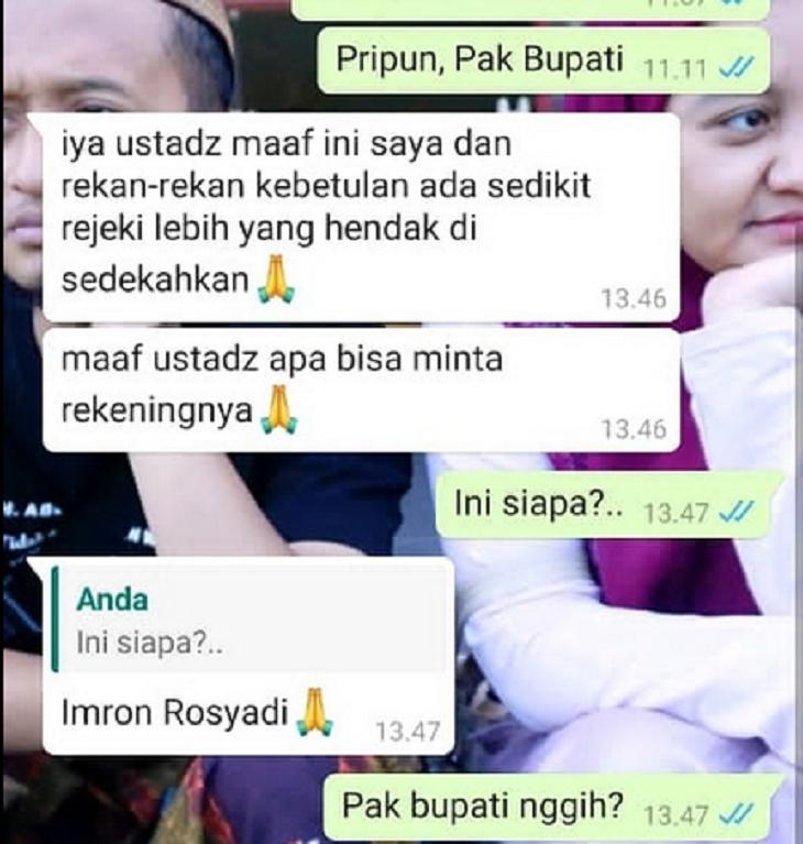 Tangkapan layar Whatsapp