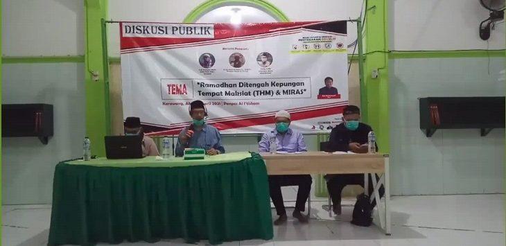 Tangkapan layar Diskusi publik Umat Islam Karawang via Zoom