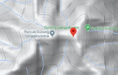 Lokasi Pegunungan Sanggabuana di Google Maps