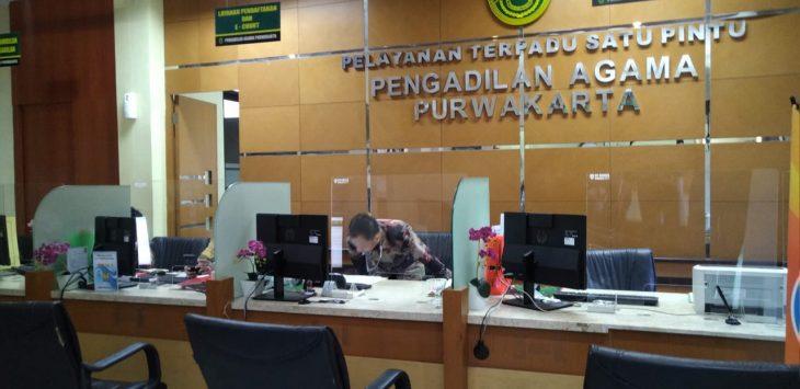Ruang pelayanan di Pengadilan Agama Purwakarta.