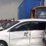 Tabrakan Beruntun di Flyover Cipendawa, 5 Kendaraan Terlibat 01