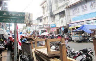 Kondisi di Jalan Cihideung, Tasikmalaya