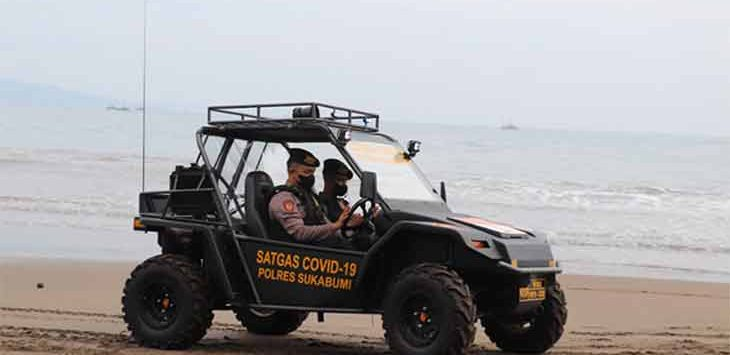Mobil dinas baru berjenis UTV (Utility Task Vehicle) dijuluki Black Marlin milik Polres Sukabumi untuk menertibkan protokol kesehatan COVID-19 di Kabupaten Sukabumi.