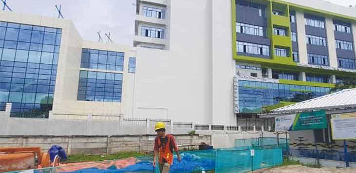RSUD Wilayah Timur ditargetkan akan rampung pada akhir tahun 2021.