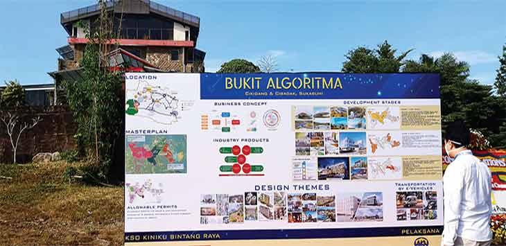 Pembangunan Bukit Algoritma di lahan seluas 888 hektare di Kecamatan Cikidang, Kabupaten Sukabumi yang akan menelan angaran Rp 18 Triliun untuk tahap pertama selama tiga tahun bakal segera dimulai.
