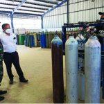 Stok oksigen di Karawang